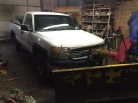 2001 GMC 2500hd Plow and Salter Truck