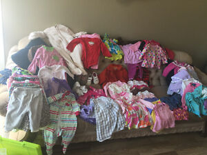 Lot girls clothes 6-12 months