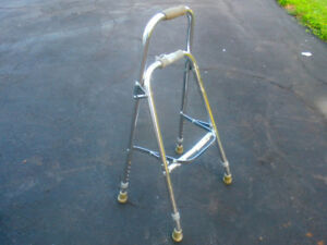 "Walker with 2 wheels,2 ''Hammy""walker 4 Prong Cane,& more!"