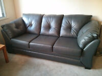 BEAUTIFUL Grey Faux Leather Couch