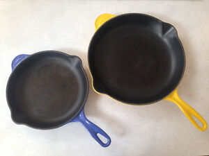 Le Creuset Enamel Cast Iron Skillets 2 sizes