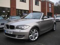 2008 08 BMW 1 SERIES 120D SE AUTO CONVERTIBLE,RARE AUTO DIESEL,SAT NAV,LEATHER!!
