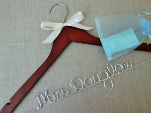 Custom Wedding Dress Hangers and must have Bridal Accesories