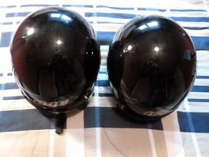 Two HJC Motorcycle Helmets