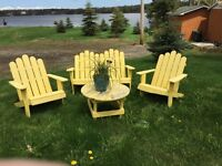Adirondack Chair Set / all for 150$