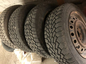 205/55 R16 Good Year Nordic Winter on Steel Rims