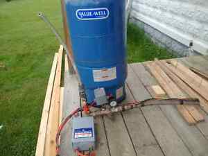 Submersible pump pressure tank and all switches
