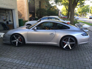 2006 Silver Porsche 911 Carrera 4 Coupe (2 door) with Aerokit