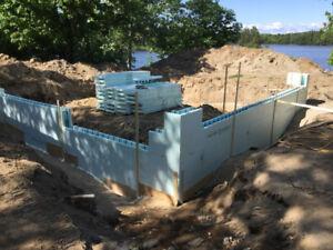 ICF foundations, footings