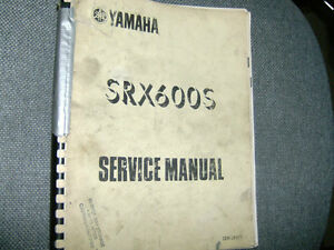 YAMAHA SRX600 FACTORY SERVICE MANUAL