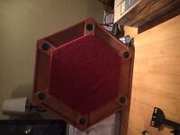 Table de poker octogonale en bois / Poker table wood made