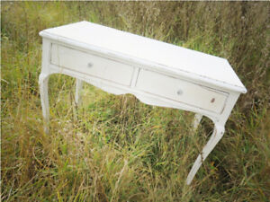 Fabulous Shabby Chic Antique Console Table / Catchall