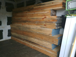 Dry wide pine lumber package (700+ bf)