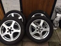 volkswagan alloy wheels 15""