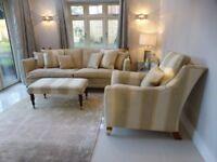 Gorgeous duresta trafalgar sofa, Armchair & footstool Immaculate Condition