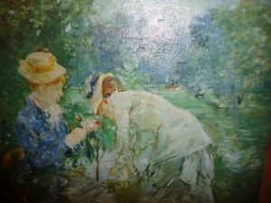"Berthe Morisot ""Young Woman Sewing in the Garden"" Art Print"