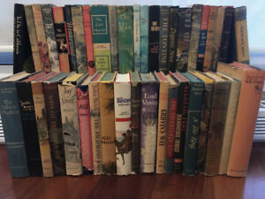 Collection of 42 Vintage Books ALL WITH DUST JACKETS