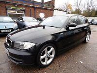 BMW 1 SERIES 118d SE (1 OWNER + FULL SERVICE HISTORY + 12 MONTH MOT) (black) 2007