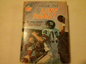 1967 THROW THE LONG BOMB  Jack Laflin Forward By Bart Starr NFL