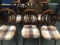 6 vintage dinning room chairs