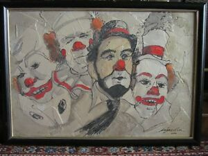 Outstanding original clown painting- now reduced!!!