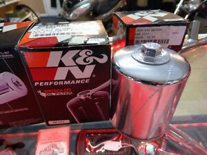 Harley fit K&N chrome oil filter-  recycledgear.ca