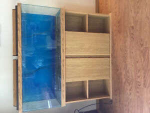 55 gallon fish tank with all the accessories, including cabinet