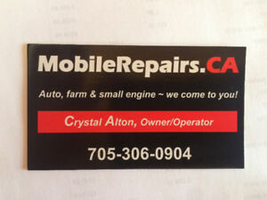 Small Engine, Farm Equipment Repair - Mobile