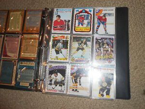 A binder of old hockey cards or sports cards London Ontario image 2