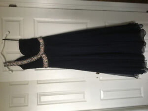 Jovani chiffon navy dress