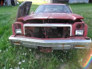76 chev malibue-parting out