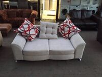 ***NEW EX DISPLAY 3 seater grey fabric sofa for SALE ***
