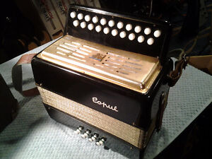 C/F DOUBLE ROW BUTTON ACCORDION WITH CASE