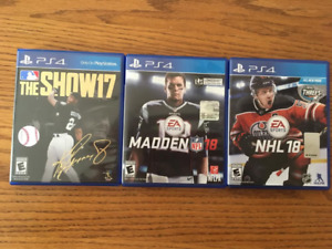 PS4 Games!! See Picture and Description. NHL, Madden and MLB