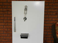 Fridge complete with draft tap & guage