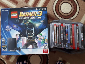 Playstation 3, accessories and games bundle