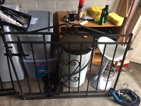 Wrought iron gates black