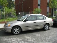 Honda civic 2001 - 900$ ECHANGE POSSIBLE