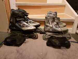 2 pairs rollerblade with gel impact system