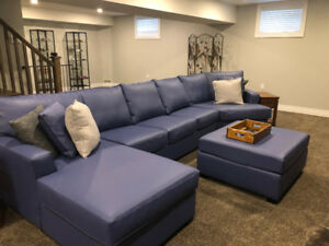 FREE must go. Extra long sofa and ottoman