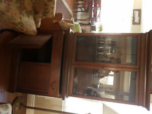 """Antique China cabinet 33 """"wide, 13 1/2 """" deep, 70 """" tall"""