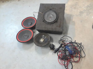 Speakers and 300 watt AMP