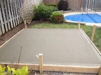 Cement Pads! Call or text 289-892-7231