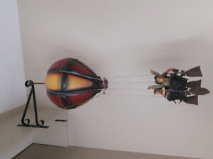 Hot air balloon hanging decor piece