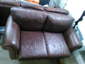 Sofa Cuir / Leather Sofa (3 Places, 2 Places)