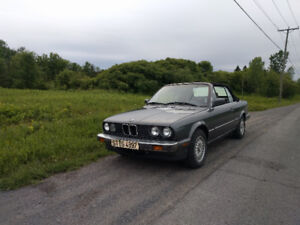 BMW E30 Convertible 325i,Cardinal Red, Manuelle, 114 000km