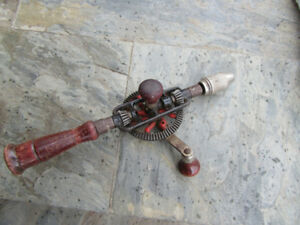 Vintage mechanical drill for decoration - Fairview Mall area