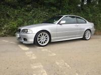 2002 52 BMW 330CI M SPORT COUPE RARE MANUAL ONLY 78000 MILES TITANIUM SILVER