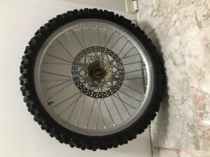 Tire and rim for dirt bike for sell !!