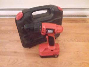 Drill black & Decker a batterie